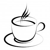 picture of coffee-cup  - vector coffee cup - JPG