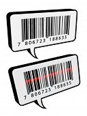 vector barcode speech bubbles