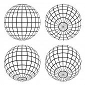 pic of world-globe  - vector globes - JPG