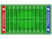 picture of football field  - vector american football field - JPG