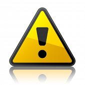 foto of warning-signs  - vector warning sign - JPG