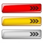 botões brilhantes de vetor