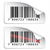 picture of barcode  - vector barcode stickers - JPG