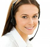 foto of telephone operator  - A friendly secretary - JPG