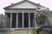 Pantheon Of Rome (Italy)