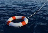 Render of Buoy Ring floating in water
