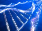3d rendered illustration. DNA strands on abstract background