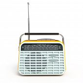 Retro radio - front view