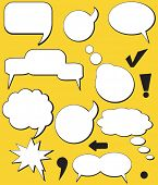 Retro Speech balloons. Vector
