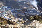 foto of sherpa  - the little Sherpa village Namche Bazar  - JPG