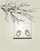 Постер, плакат: Весной птицы Вектор