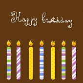 picture of happy birthday card  - Birthday card with candles - JPG