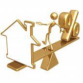 Equilíbrio branco casa símbolo e porcentagem