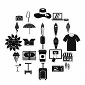 Tourist Shopping Icons Set. Simple Set Of 25 Tourist Shopping Vector Icons For Web Isolated On White poster