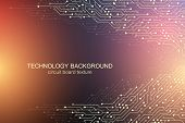 Computer Motherboard Vector Background With Circuit Board Electronic Elements. Electronic Texture Fo poster