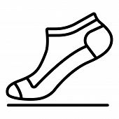 Small Sock Icon. Outline Small Sock Vector Icon For Web Design Isolated On White Background poster