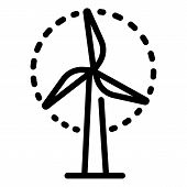 Wind Turbine Icon. Outline Wind Turbine Icon For Web Design Isolated On White Background poster