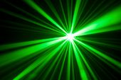 green laser light reflection