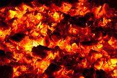 textura de carbón de leña arde