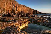 Afternoon sun at atlantic ocean - Ireland
