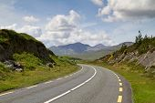 Road in Connemara mountains - Ireland