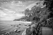 Stunning Nature Of Kuantan. Best Kuantan Beach Resorts Famous For Pristine Nature. Coastline With Tr poster