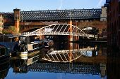image of flatboat  - Bridgewater Canals in Manchester - JPG
