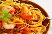 Seafood marinara spaghetti