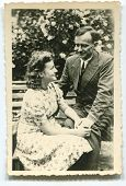 Vintage unretouched photo of couple (forties)