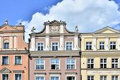Old tenement houses, Old Market Square in Poznan, Poland poster