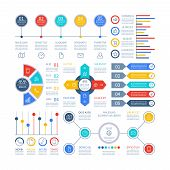 Infographics Diagrams. Infochart Elements, Marketing Chart And Graphs, Bar Diagram. Option Planning  poster