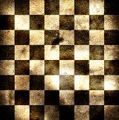 Grungy chessboard illustration