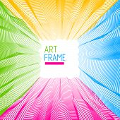 Abstract Art Vector Background For Modern Trendy Great Design, Line Art Surface Textures, 3d Dimensi poster