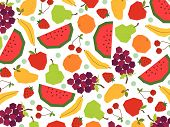 Retro Papercut Fruits (Vector)