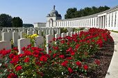 stock photo of tyne  - Tyne Cot Cemetery in Ypres Belgium - JPG