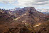 Mountain Landscape On Gran Canaria Island