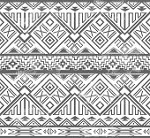 Abstract Geometric Seamless Aztec Pattern. Ikat Style Pattern.