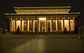 stock photo of zedong  - Mao Zedong Tse Tung Tomb Tiananmen Square Beijing China Night Shot - JPG