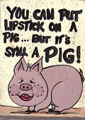 Sign Lipstick On A Pig
