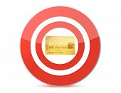 Target a credit card illustration design over white
