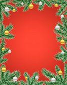 Quadro de Natal vermelho