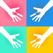 Helping Hands Charity  Illustration of Helping