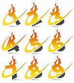 Swoosh Flame Numbers