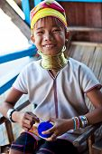Padaung tribe girl