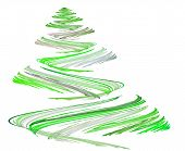 Green Christmas Tree Illustration