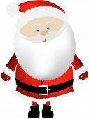 Santa Big Head Isolated