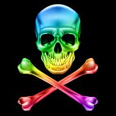 stock photo of skull cross bones  - Abstract Skull and crossbones - JPG