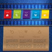 Website Template Design With Jeans And Tags