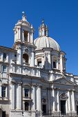 Italy. Rome. Navon Square (Piazza Navona). Sacred Agnessa's church (Saint Agnese in Agone).