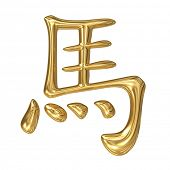 horoscope: golden sign of oriental (chinese) zodiac - horse